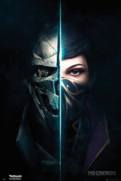 Dishonored 2 Faces Maxi Poster