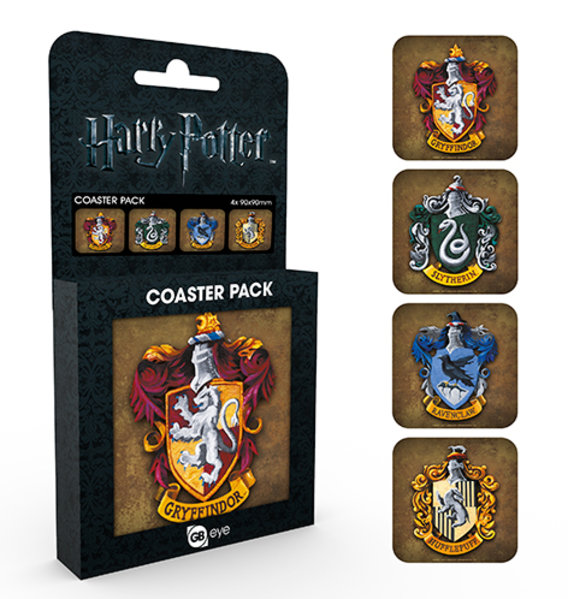 Harry Potter Crests Coaster Box