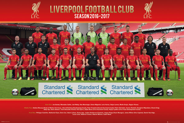 Liverpool Team Photo 16/17 Maxi Poster