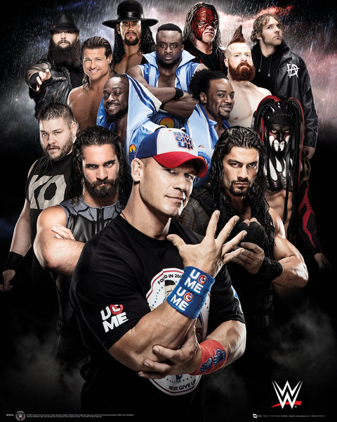 WWE Superstars 2016 Mini Poster
