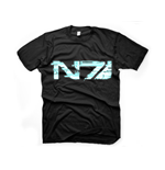 MASS EFFECT 3 Men's Glitch N7 Logo T-Shirt, Small, Black