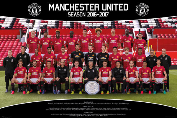 MANCHESTER UNITED Team Photo 16/17 Maxi Poster