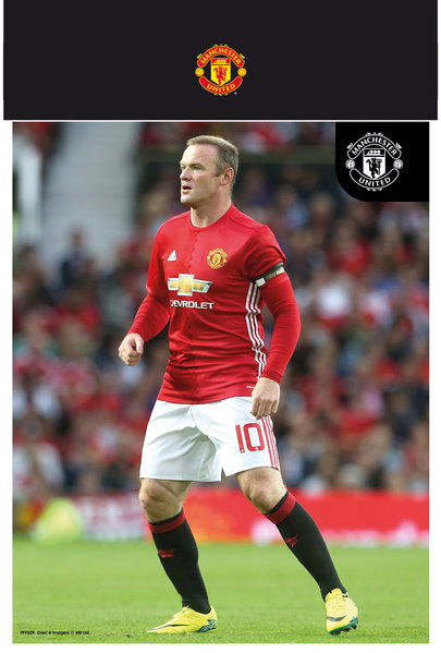 "MANCHESTER UNITED Rooney 16-17 10"" x 8"" Bagged Photographic"
