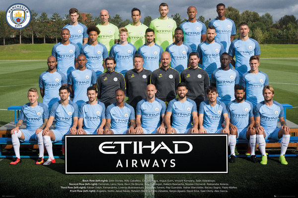 MANCHESTER CITY Team Photo 16/17 Maxi Poster