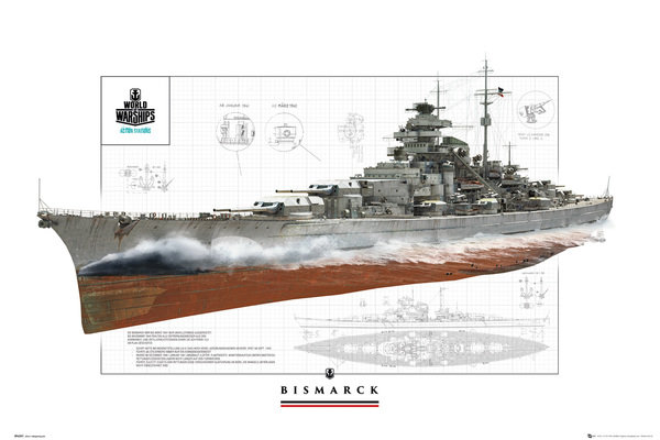 WORLD OF WARSHIPS Bismark Maxi Poster