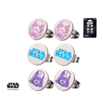 Star Wars Earrings Set Logo, Darth Vader & Stormtrooper