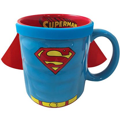 SUPERMAN Ceramic Caped Coffee Mug