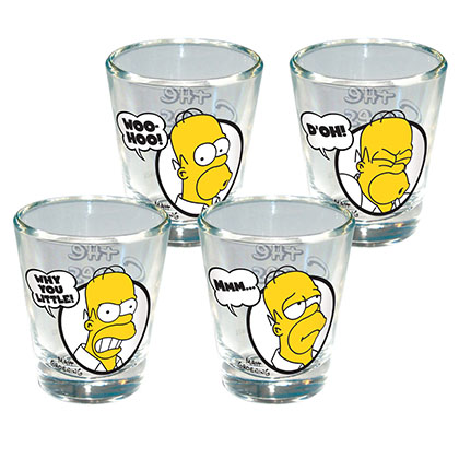 The SIMPSONS Homer 4 PC Shot Glass Set