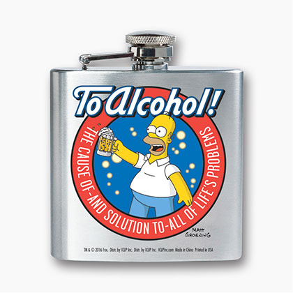 The SIMPSONS To Alcohol Flask