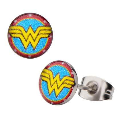 WONDER WOMAN Round Logo Earrings