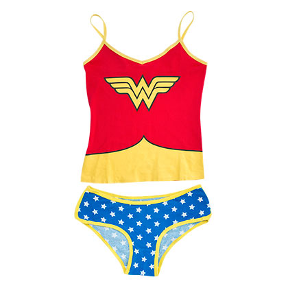 WONDER WOMAN Glow In The Dark Cami Set