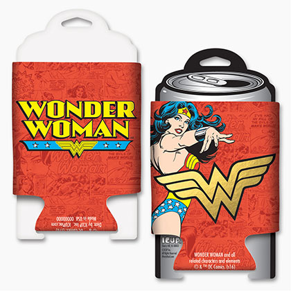 WONDER WOMAN Foil Koozie