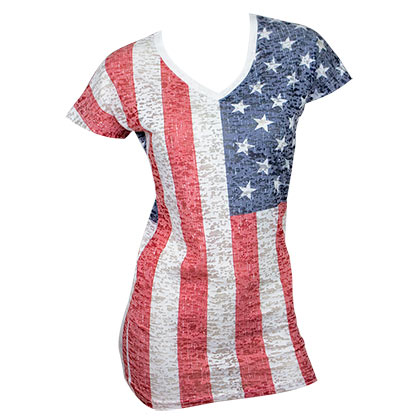 USA Women's American Flag Tee Shirt