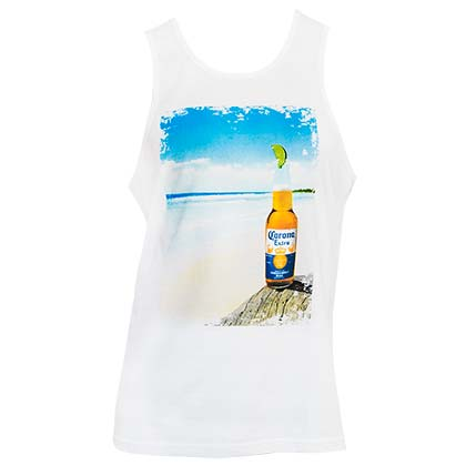 CORONA EXTRA White Beach Tank Top