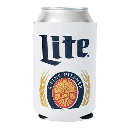 MILLER LITE White Can Insulator