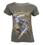 NINTENDO Legend of Zelda Woman's Link at the Gate of Time T-Shirt, Medium, Military Green