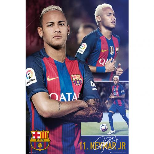 F.C. Barcelona Poster Neymar Collage 66
