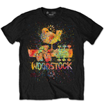 Woodstock T-shirt - Splatter Special Edition Black