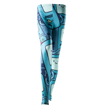 Adventure Time Leggings - Beemo All Over Print