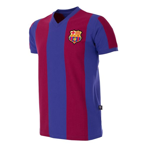 FC Barcelona 1976 - 77 Short Sleeve Retro Football Shirt