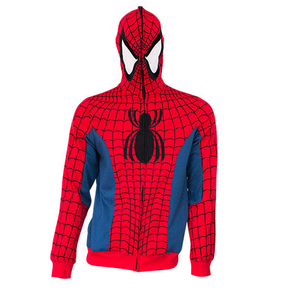 SPIDERMAN Full Zip Costume Hoodie