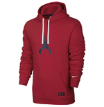 2016-2017 PSG Nike Core Hooded Top (Red)