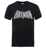 DC Comics Men's Tee: Originals Batman Retro Crackle Logo
