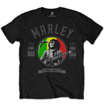 Bob Marley Men's Tee: Rebel Music Seal