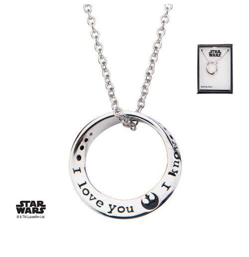 Star Wars Necklace I love you. I know 46 cm (Sterling Silver)
