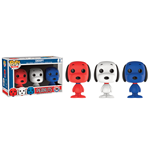 Peanuts Mini POP! Vinyl Figure 3-Pack Snoopy Rock The Vote 4 cm