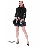 Laquer look black skirt with lace