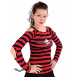 Black / red striped long sleeve