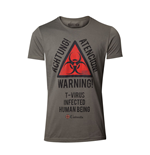 CAPCOM Resident Evil Men's Biohazard Warning T-Shirt, Medium, Military Green