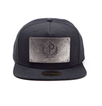 FALLOUT 4 Metal Plate Brotherhood of Steel Logo Snapback Baseball Cap, One Size, Black