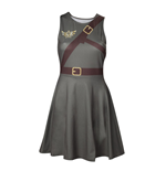 NINTENDO Legend of Zelda Woman's Link Outfit Sleeveless Dress, Medium, Military Green