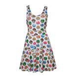 POKEMON Woman's All-over Pokeball Printed Sleeveless Dress, Extra Large, Grey