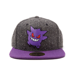 POKEMON Gengar Character Snapback Baseball Cap, One Size, Dark Grey/Purple