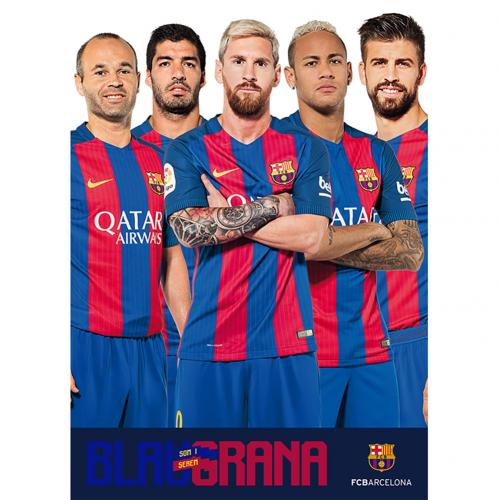 F.C. Barcelona Poster Players 73