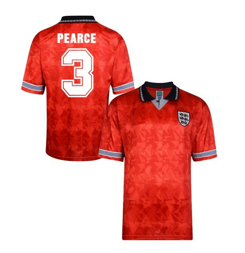 Score Draw England World Cup 1990 Away Shirt (Pearce 3)
