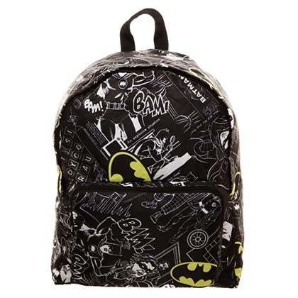BATMAN Packable Black Backpack