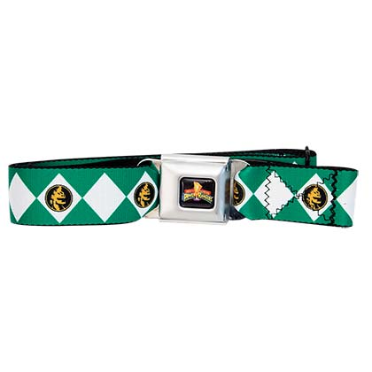POWER RANGERS Green Seatbelt Buckle Belt
