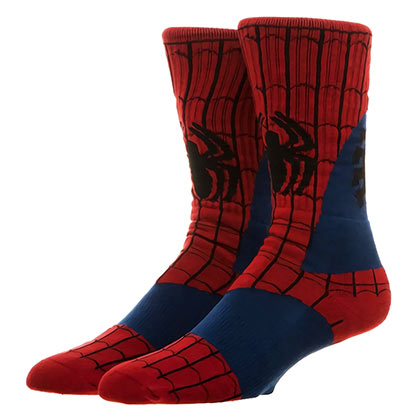 SPIDERMAN Men's Costume Crew Socks