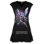 Dragon Keeper - Stud Waist Mini Dress Black
