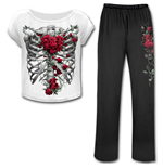 Rose Bones - 4pc Gothic Pyjama Set