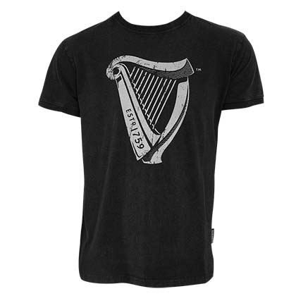 GUINNESS Distressed Harp Tee Shirt