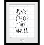 Pink Floyd Framed Picture - The Wall - White Wall - 30x40 Cm