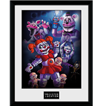 Five Nights at Freddy's Framed Print - Sister Location Group - 30x40 Cm