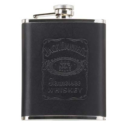 Jack Daniel's Black Leather Jumbo Flask