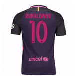 2016-17 Barcelona With Sponsor Away Shirt - (Kids) (Ronaldinho 10)