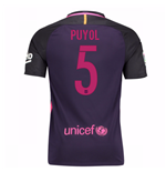 2016-17 Barcelona With Sponsor Away Shirt - (Kids) (Puyol 5)